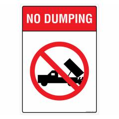 Safety Sign Store No Dumping Sign Board, PS805-A4AL-01