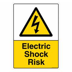 Safety Sign Store Electric Shock Risk Sign Board, CW314-A3PC-01