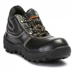 Prima PSF-27 Booster Steel Toe Black Safety Shoes, Size: 6