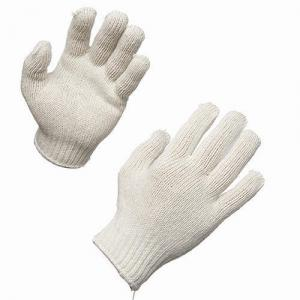 SRJ 35 GSM White Cotton Knitted Hand Gloves (Pack of 100)