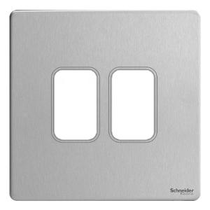 Schneider ZENcelo India 2 Module Surround and Gridplate (Pack of 2), IN8402C(SA)