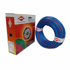 HPL 6 Sq mm Blue Single Core FRLS Wire, Length: 90 m