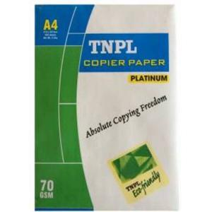 TNPL 70 GSM White Unruled A4 Paper (Pack of 10)