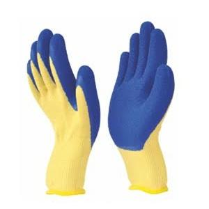 Marvel L-101 Blue & Yellow Safety Gloves, Size: L (Pack of 10)