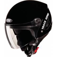 Studds Track Super Black Open Face Helmet, Size (Large, 580 mm)