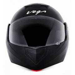 Vega Crux Motorbike Black Full Face Helmet, Size (Medium, 580 mm)