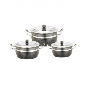 Klassic Vimal KV033 6 Pieces Stainless Steel Powder Coated Antique Dish Set