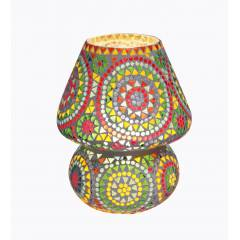 The Brighter Side Iris multicolor Mosaic Table Lamp