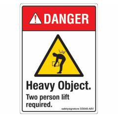 Safety Sign Store Caution: Heavy Objects Sign Board, SS648-A8AL-01, (Pack of 10)