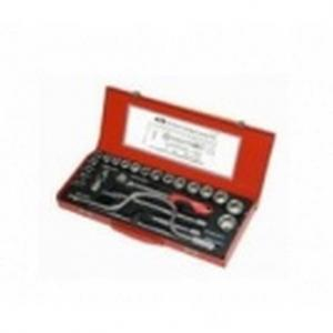 Ajay Hex and Bi-Hex 1/2 Inch Drive Socket Set, Contains: 24 Pieces