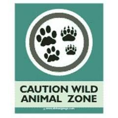 Dishasignage Caution-Wild-Animal-Zone Safety Signage