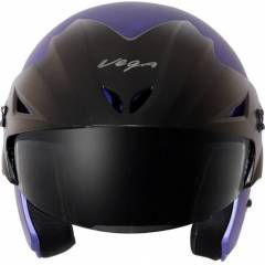 Vega Cruiser WP Dull Blue Half Face Motorbike Helmet, Size (Medium, 580 mm)
