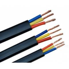 RISTACAB 100m PVC Insulated 3 Core Sheathed Submersible Flat Cable, 2.5 Sqmm