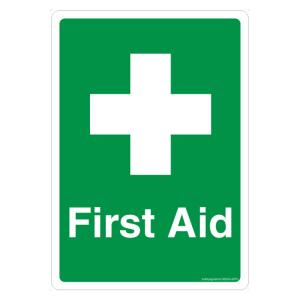 Safety Sign Store First Aid Sign Board, GS206-A4AL-01