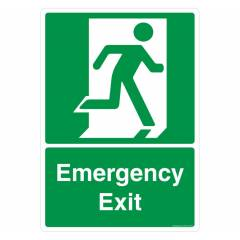 Safety Sign Store Emergency Exit Sign Board, FE612-A3PC-01