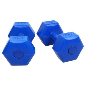 Strauss 2kg Blue PVC Dumbbells