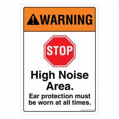 Safety Sign Store Warning: High Noise Area Sign Board, SS828-A4AL-01