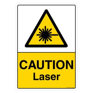 Safety Sign Store Caution: Laser Sign Board, CW405-A3PC-01