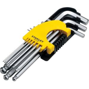 Stanley 9 Pieces Metric Long Ball End Hex Key Set, STMT94162-8