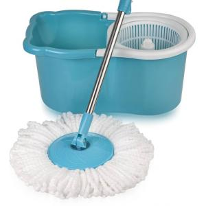 Gala Aqua Blue & White Spin Mop Set