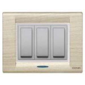Cona Texture Light Wood 8 Module Glow Plate, MT1107 (Pack of 10)