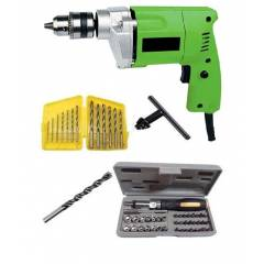 I-Tools 10mm Simple Drill Machine with 41 Pieces Screw Driver Set (Pack of 2)