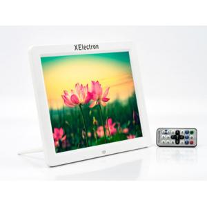 Xelectron 12 Inch White HD Ready Digital Photo Frame with Fully Functional Remote