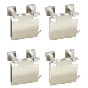 Doyours 4 Pieces SS Toilet Paper Holder with Flap Set, DY-0886