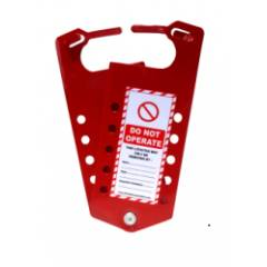 Asian Loto Label Lockout Hasp with 10 Holes, ALC-LLH-R11