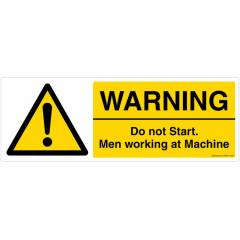 Safety Sign Store Warning: Do Not Start Sign Board, CW425-1029PC-01
