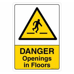 Safety Sign Store Danger: Opening In Floors Sign Board, SS210-A4V-01