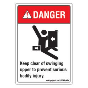 Safety Sign Store Danger: Keep Clear, Prevent Serious Body Injury Sign Board, SS618-A8AL-01, (Pack of 10)