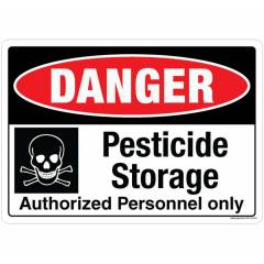 Safety Sign Store Danger: Pesticide Storage Sign Board, SS132-A5PC-01