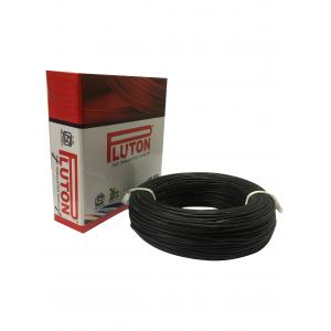Pluton 0.75 Sq mm Black PVC Insulated Wire