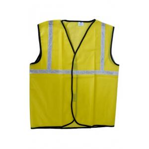 KT Yellow Safety Reflective Jacket with 1 Inch Tape (Pack of 10)