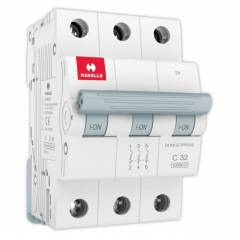 Havells Euro-II 32A Three Pole C Curve MCB, DHMGCTPF032
