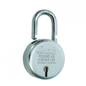 Link 45mm Round Bright Chrome Plated Padlock, L45-LRPL-45
