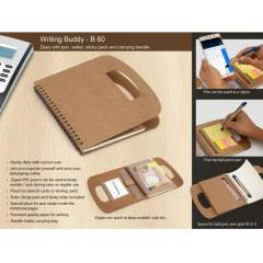 Generic Diary with Pen, Wallet, Sticky Pads & Carrying Handle, B60