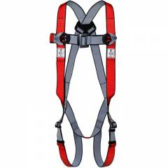 Allen Cooper Red 5 Point Adjustable Full Body Polypropylene Harness, 1011001_PP15
