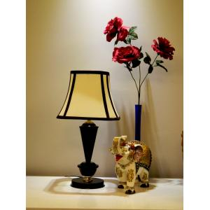 Tucasa Table Lamp with Stripe Shade, LG-412, Weight: 700 g