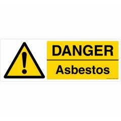 Safety Sign Store Danger: Asbestos Sign Board, CW205-1029PC-01