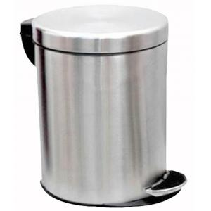 SS Silverware 22 Litre Stainless Steel Plain Pedal Dustbin with Plastic Bucket