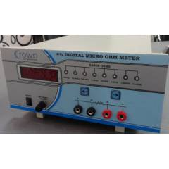 Crown 4 Digit Digital Micro Ohm Meter, Measuring Range: 1999.9m, CES 200