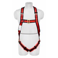 Karam E-CON Full Body Harness with Restraint Twisted Rope Double Lanyard, PN16(PN206D)