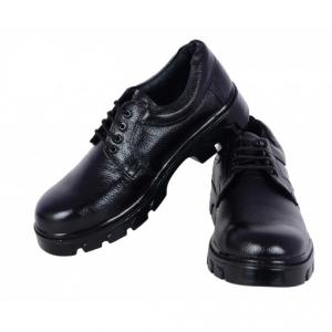 Polo Indcare Steel Toe Black Safety Shoes, Size: 6 (Pack Of 24)