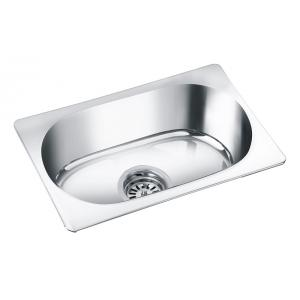 Deepali Single Bowl Kitchen Sink, DR 111A, Overall Size: 24x18x8 Inch