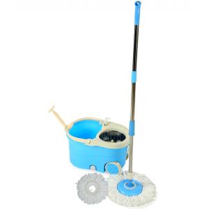 Oshop Trades Assorted Blue Colour Spin Mop with Wringler and Wheels