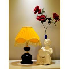 Tucasa Table Lamp with Fringe Shade, LG-433, Weight: 450 g