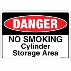 Safety Sign Store Danger: No Smoking, Cylinder Storage Area Sign Board, SS407-A5V-01