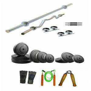 Arnav Combo of 22kg Plates & 6 Accessories Home Gym, OSB-700513